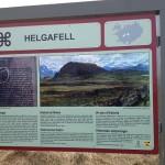 Helgafell information board